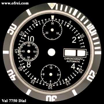 Chronograph Dials Valjoux - ET...