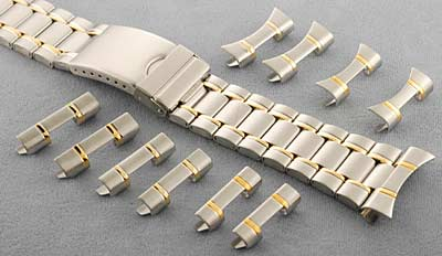 0f99c8a4d81f9b Metal Watch Band Bracelet with Tri-Fold Clasp