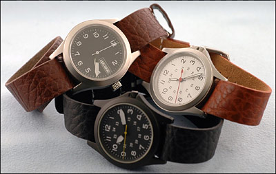 One Piece Slip Thru Leather Watch Straps
